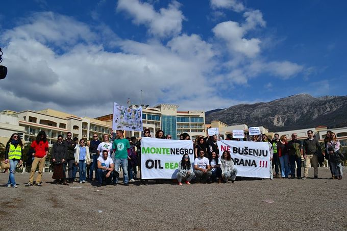 Protest against the announced oil and gas exploration in Budva
