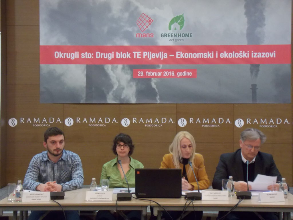 Round table: The second block of TPP Pljevlja – The economic and environmental challenges