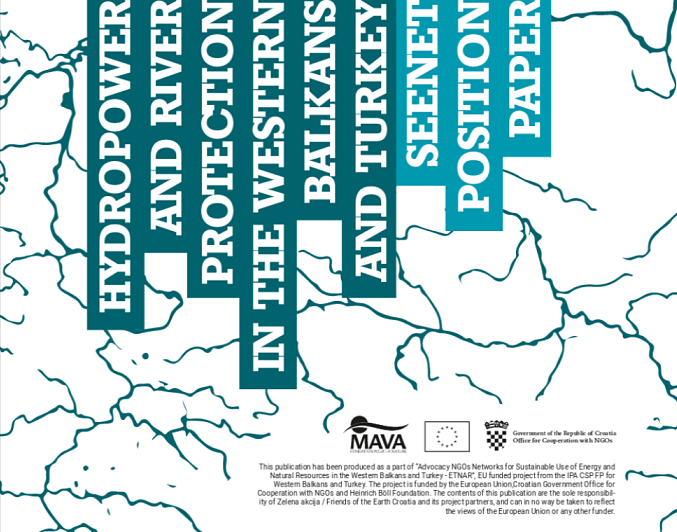 SEENET position paper on Hydropower and River Protection in the Western Balkans and Turkey